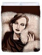 Colette In Sepia Tone Duvet Cover