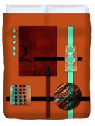 Collage Abstract 10 Duvet Cover by Patricia Lintner