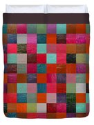 Collage Color Study Fuchsia Duvet Cover