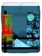 Collage Landscape 1 Duvet Cover by Patricia Lintner
