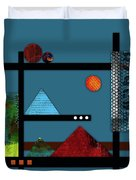 Collage Landscape 2 Duvet Cover by Patricia Lintner