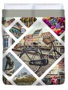 Collage Of Copenhagen  Duvet Cover