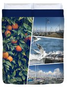 Collage Of Cyprus Images Duvet Cover