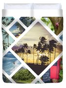 Collage Of Hawaii  Duvet Cover