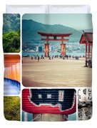 Collage Of Japan Images Duvet Cover
