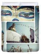 Collage Of Kathmandu  Duvet Cover