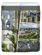 Collage Of Luxembourg Images Duvet Cover