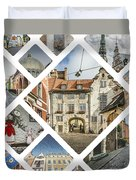 Collage Of Riga Duvet Cover