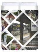 Collage Of Seoul Duvet Cover
