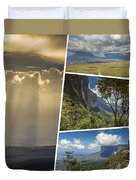 Collage Of Table Mountain Roraima  Duvet Cover