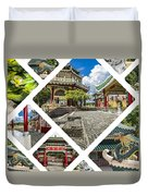 Collage Of Taoist Temple In Cebu, Philippines. Duvet Cover