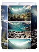 Collage Of Tatra Mountains  Duvet Cover