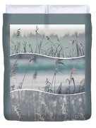 Collage Of Winter Time In Poland. Duvet Cover