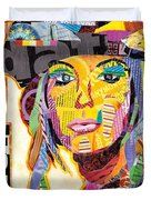 Collage Portrait Duvet Cover by Oprisor Dan
