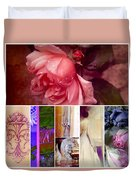 Collage So Rosey Duvet Cover