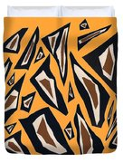Collage Yellow Black Brown Duvet Cover