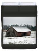 Collapsing Barn Duvet Cover