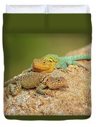 Collared Lizards Duvet Cover