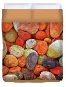 Collecting Pebbles Duvet Cover