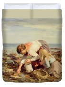 Collecting Shells  Duvet Cover