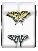 Collection Of Two Butterflies Duvet Cover