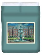 College Fountain Duvet Cover
