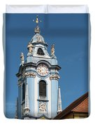 Collegiate Church Blue Tower Duvet Cover