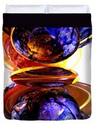 Colliding Forces Abstract Duvet Cover