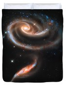 Colliding Galaxies Duvet Cover