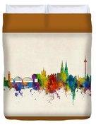 Cologne Germany Skyline Duvet Cover