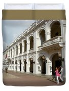 Colombia Courtyard Duvet Cover