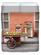 Colombia Fruit Cart Duvet Cover