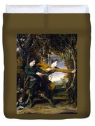 Colonel Acland And Lord Sydney The Archers Duvet Cover
