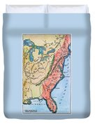Colonial America Map Duvet Cover