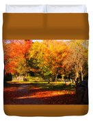 Colonial Fall Colors Duvet Cover