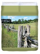 Colonial Fence At The Home Of Booker T Washington Duvet Cover
