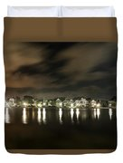 Colonial Lake At Night Duvet Cover