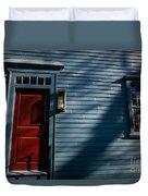 Colonial Red Door Newport Rhode Island Duvet Cover