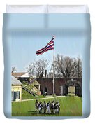 Colonial Soldiers Duvet Cover