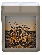 Colonial Soldiers On Parade Duvet Cover