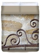 Colonial Wrought Iron Gate Detail Duvet Cover