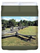 Colonial Zig Zag Fence At Booker T Washingtons Home Duvet Cover