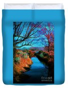 Color Along The River Duvet Cover