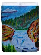 Color At The Firehole Duvet Cover