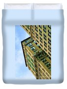 Color Buildings Architecture New York  Duvet Cover