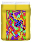 Color Drawing Abstract #3 Duvet Cover