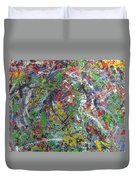 Color Map From The Sky And Ice Figure  Duvet Cover
