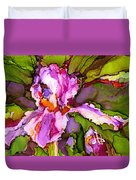 Color Me Iris Duvet Cover