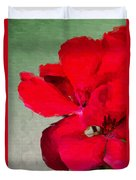 Color Me Red Duvet Cover