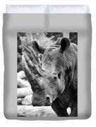 Color Me Rhino Duvet Cover